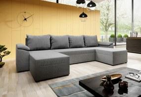 BAILEY U alakú ülőgarnitúra, 314x85x140, malmo 90