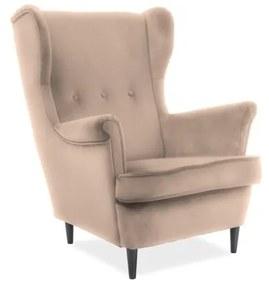 ARISTO Velvet fotel, 81x101x85, bluvel 28