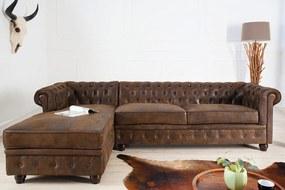 CHESTER chesterfield kanapé - 280cm - antik barna