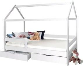 MG MÁRTON házikó ágy 200x90 - fehér