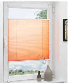 Grandekor 80 x 130 cm harmonika roló, pliszé, fúrás nélkül, narancs