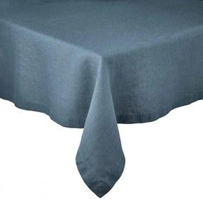 RIGA lenvászon terítő, kék 160x160 cm