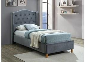 CADERA Velvet kárpitozott ágy, 90x200, bluvel 14