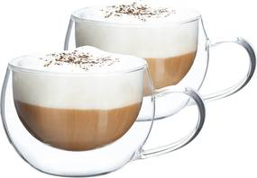 Thermo cappuccino pohár csésze, 2db, 280ml, HOTCOOL TYP 1