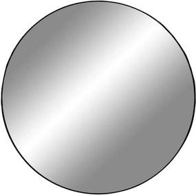 JERSEY kerek fekete acél tükör 60cm