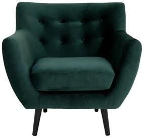Monte sötétzöld bársony fotel - House Nordic