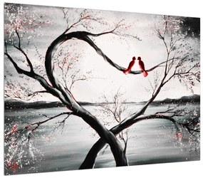 Szerelmes madarak képe (70x50 cm)