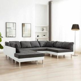Fehér elemes műbőr kanapé