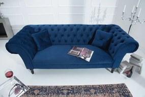 PRINCESS bársony kanapé - kék