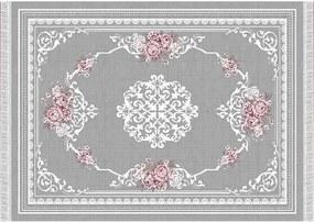 Sedef K160_230 Szőnyeg - szürke-rózsaszín