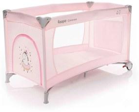 Zopa Caravan Utazóágy kerekes kibúvós Unicorn Rose - rózsaszín