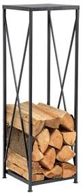 Tűzifa állvány kovácsoltvasból, fekete, TURFI