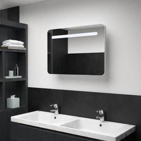 Tükrös fürdőszobaszekrény led világítással 80 x 11 x 55 cm