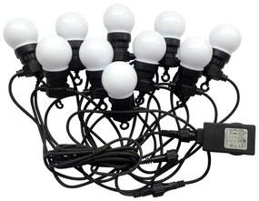 V-Tac LED Kültéri lánc STRING 5m 10xLED/0,5W/230V IP44 6000K VT0411