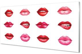 Akrilképek Vörös és rózsaszín ajkak 140x70 cm