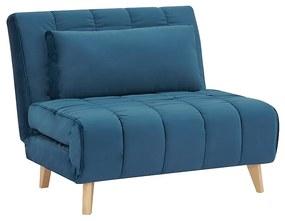 WILDY Velvet szétnyitható fotel, 103x82x94, tap.188/bükkfa
