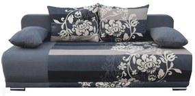 Kinyitható kanapé, szürke/minta, REMI NEW