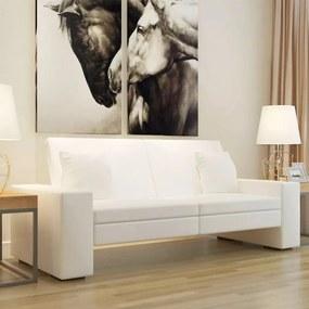 Fehér műbőr kanapéágy