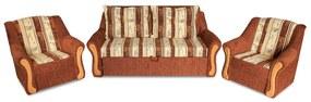 Mistral alíz 3+1+1 ülőgarnitúra ágyazható, hálószobabútor gr050 (terra tulipán/üni - éger fabetét)