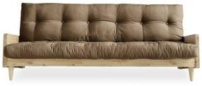Indie Natural/Mocca barna kinyitható kanapé - Karup Design