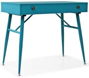 vidaXL antik zöld, fiókos íróasztal 90 x 50 x 76,5 cm