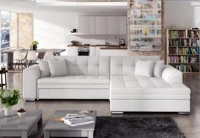 PALERMO ágyazható sarok ülőgarnitúra, 294x80x196 cm, soft 017/white, jobbos
