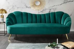 Arielle kanapé 220 cm-es türkiz bársony