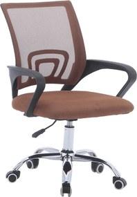 Irodai szék, barna/fekete, DEX 2 NEW