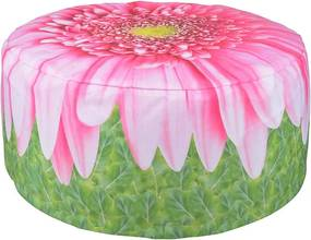 Virág mintás puff, gerbera