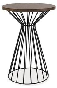 LATA II dohányzóasztal, 40x56x40, sötét dió/fehér