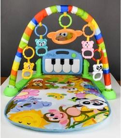 Zongorás játék szőnyeg állvánnyal kiegészítőkkel 3 az 1 ben MESE VILÁG Zöld: zold