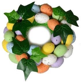 Húsvéti dekor koszorú tojásokkal, 16 cm
