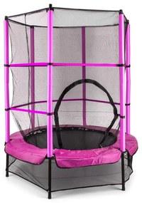 Rocketkid, 140 cm trambulin, belső védőháló, bungee rugók, rózsaszín