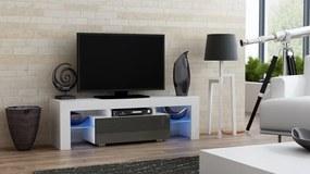 RTV Milano 130, fehér / szürke – TV-asztal