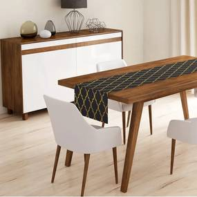 Black Ogea asztali futó, 45 x 140 cm - Minimalist Cushion Covers