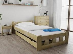 Naomi magasított ágy 120 x 200 cm, fenyőfa Ágyrács: Lamellás ágyráccsal, Matrac: Matrac nélkül