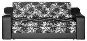 Izabell iii ágyazható, karfás  kanapé, 200 × 90 cm ka051_3 (fekete - fekete)