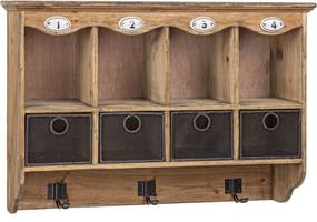 OFFICINA faliszekrény 4 fiókkal és 3 akasztóval