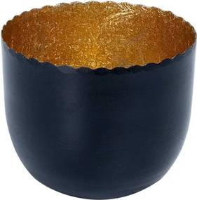 DELIGHT mécsestartó fekete/arany,  Ø 7 cm