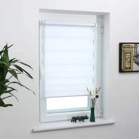 Lysel Outlet 45×150 cm sávos roló, dupla roló, zebra roló, fúrás nélkül, fehér
