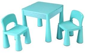 NEW BABY | New Baby set | Gyerek szett NEW BABY - asztal két székkel menta | Zöld |