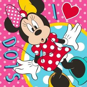 Disney Minnie mágikus törölköző kéztörlő dots