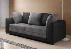 CLOE 3 kanapé, JumboGrey+ViperBlack