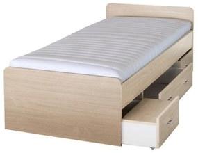 Ágykeret, juharfa, 90x200, DUET 80262