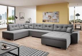 VERONA U alakú ülőgarnitúra, 344x81x163, malmo 90, balos