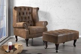 CHESTER design fotel - antik kávé