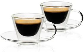 4home Elegante HotCool thermo espresso csésze 80 ml, 2 db