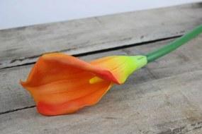 Narancssárga mű kála szárral 65cm