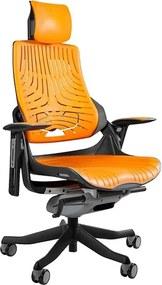 UNI-WauTPE 2 modern vezetői forgószék elasztomer ülőfelülettel, fekete vázzal