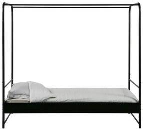 VTwonen - Bunk, fekete baldachinos ágy, 90 x 200